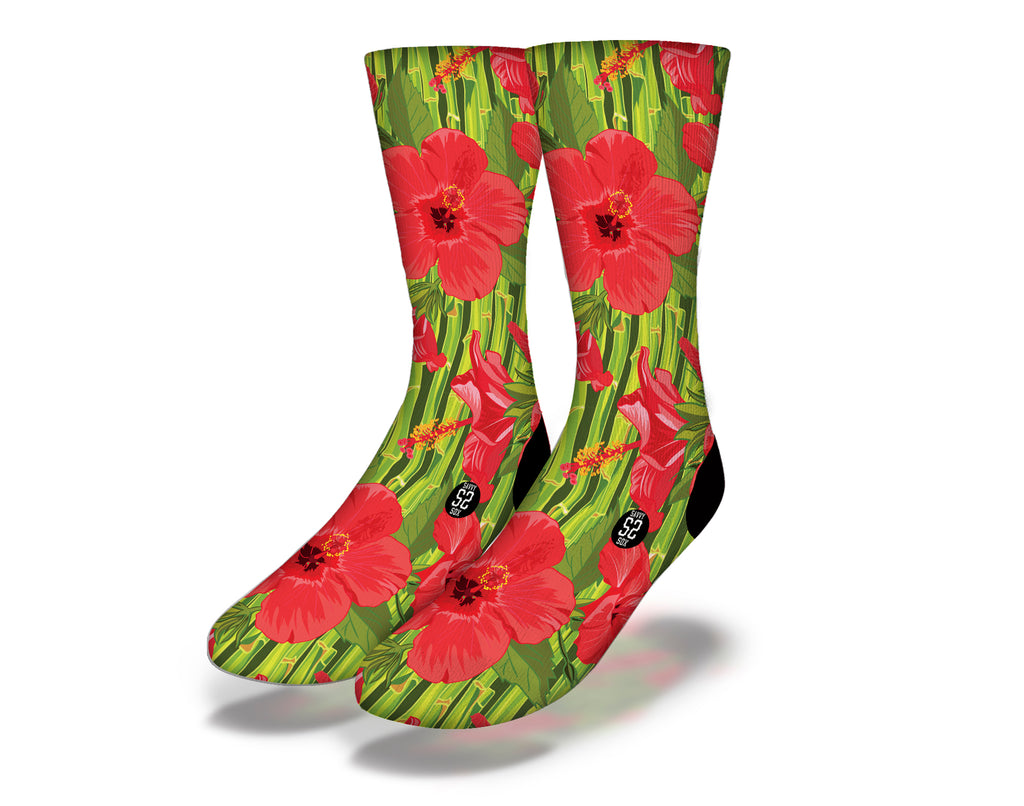 Hawaiian Flowers Theme 4 Socks
