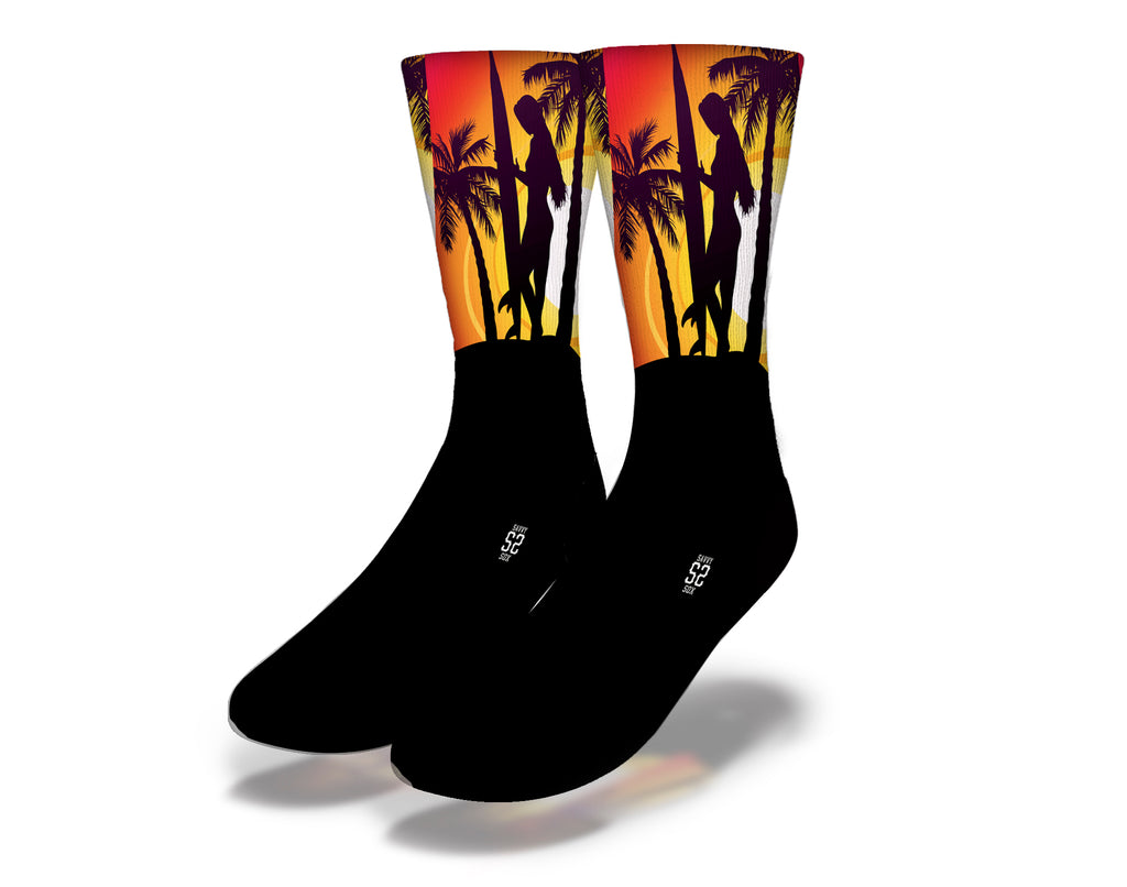 Girl Surfer Socks
