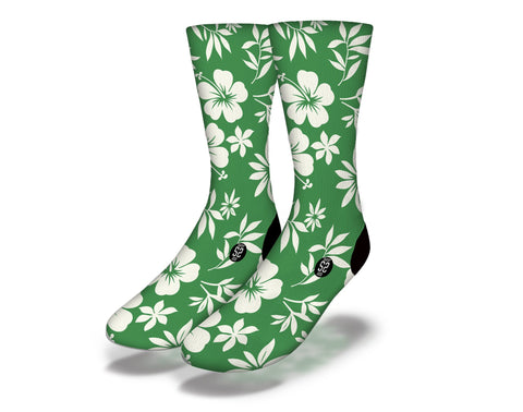 Hawaiian Flower Theme Socks