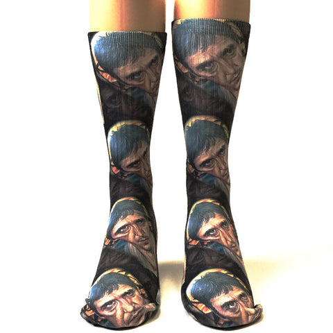 Roman Abrego Scarface Head Socks - SavvySox - 1