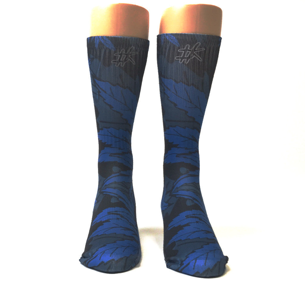 Blue Leaf Dope Kings Socks - SavvySox