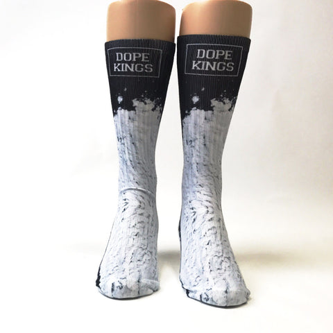 White Dope Kings Socks - SavvySox