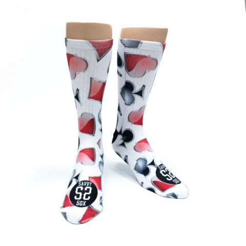4 Suits Playing Card Casino Socks