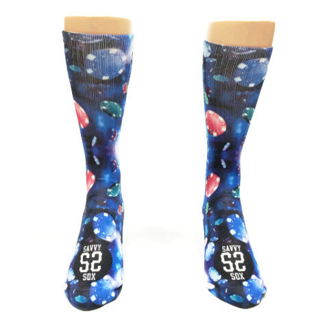 Galaxy Poker Playing Chips Socks - SavvySox - 2