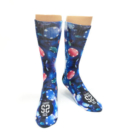 Galaxy Poker Playing Chips Socks - SavvySox - 1