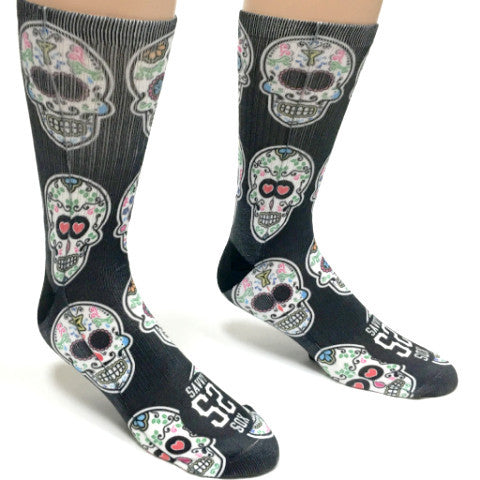 Mexican Sugar Skull Socks - SavvySox - 1