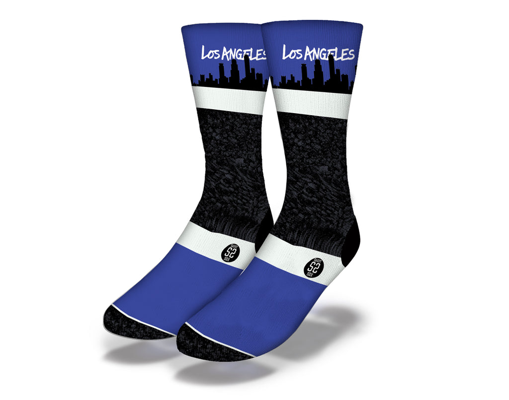 Los Angeles Blue Skyline Socks