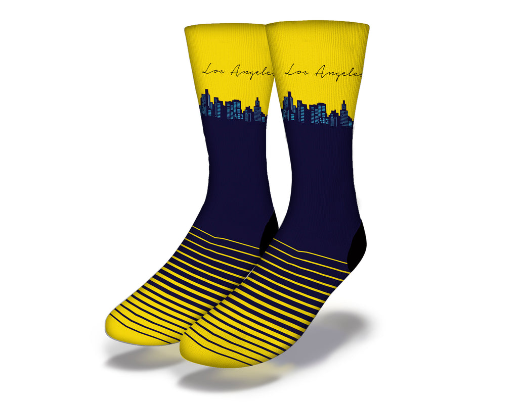 Los Angeles Yellow Skyline Socks