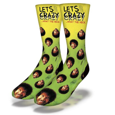 Bob Ross Let's Get Crazy Socks