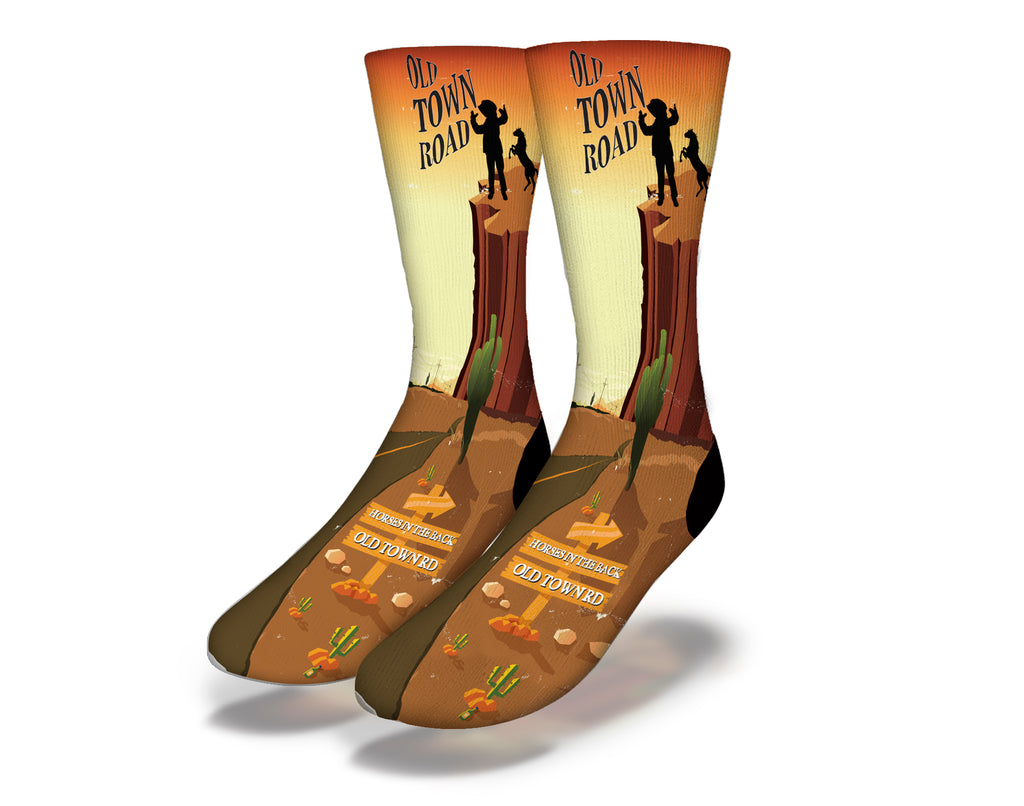 Old Town Road Cowboy Socks