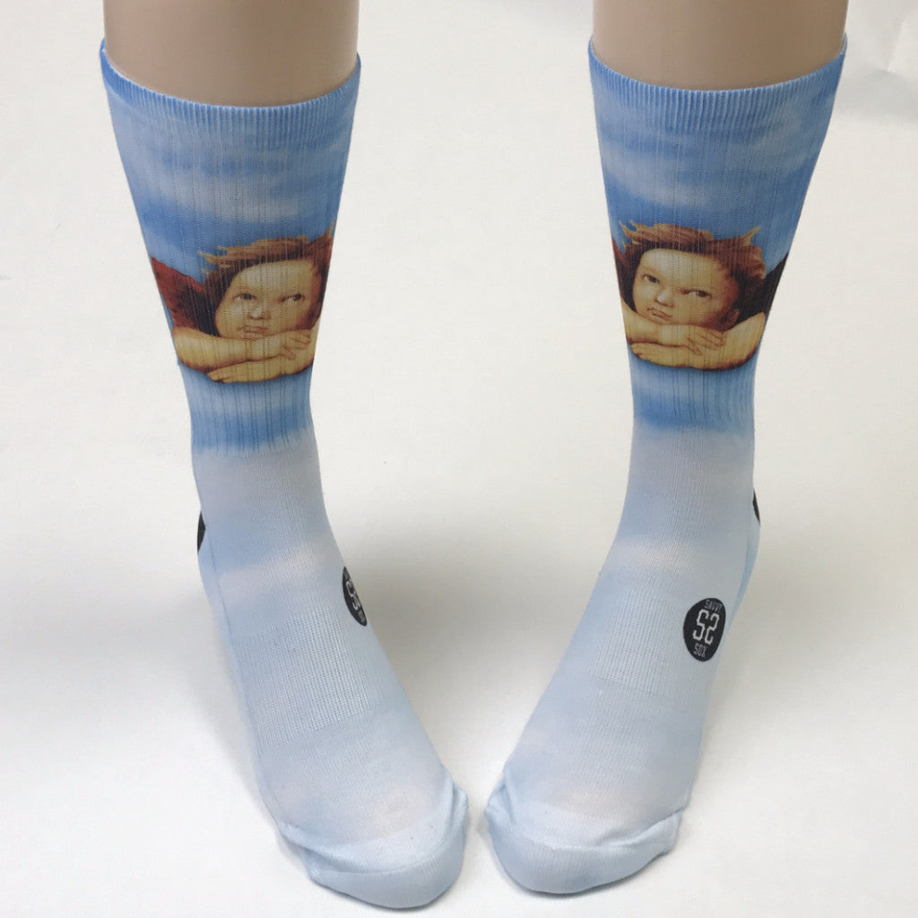 Raphael's Angels Skyblue Socks - SavvySox - 2