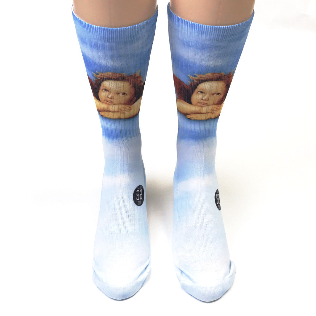 Raphael's Angels Skyblue Socks - SavvySox - 1
