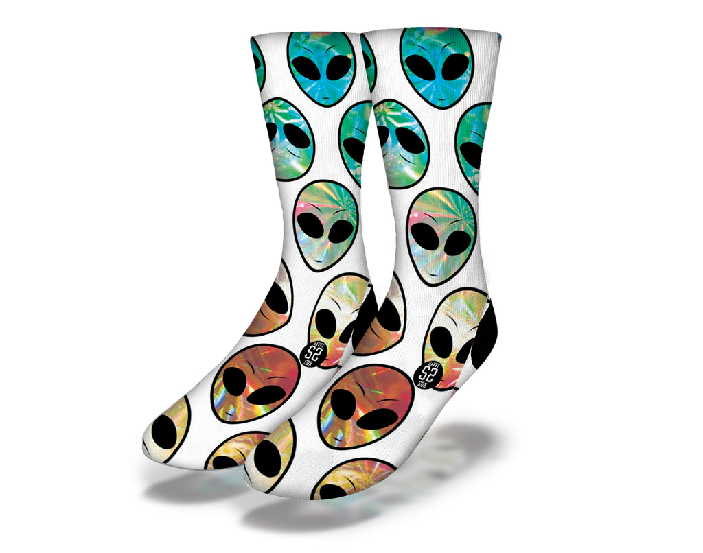 Reflective Alien Socks