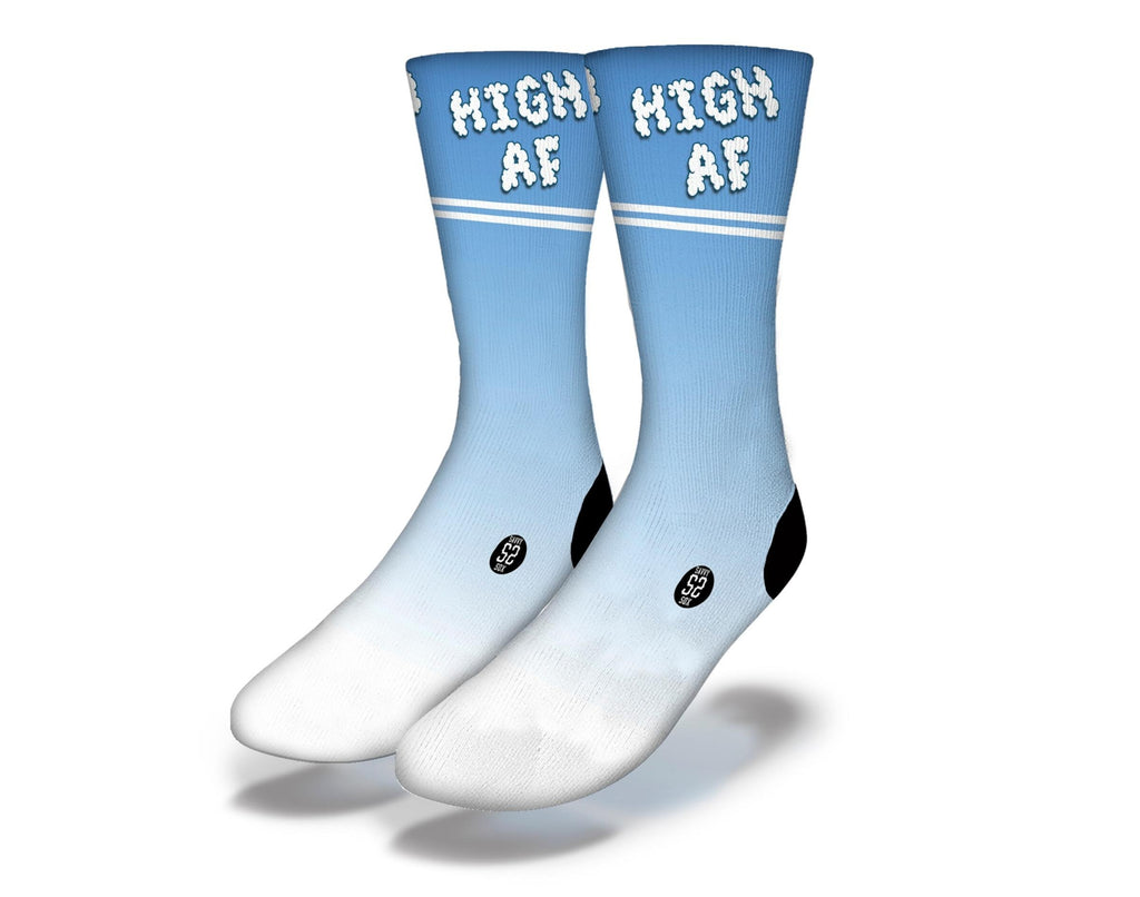 High AF Cannabis 2 Lines Socks