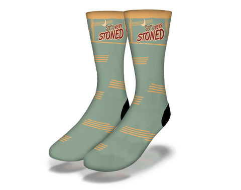 Sorry We Are Stoned Cannabis Socks
