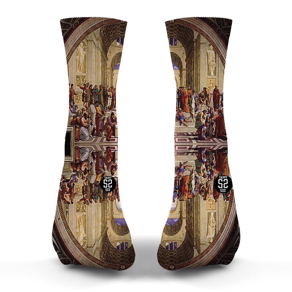School Of Athens Socks