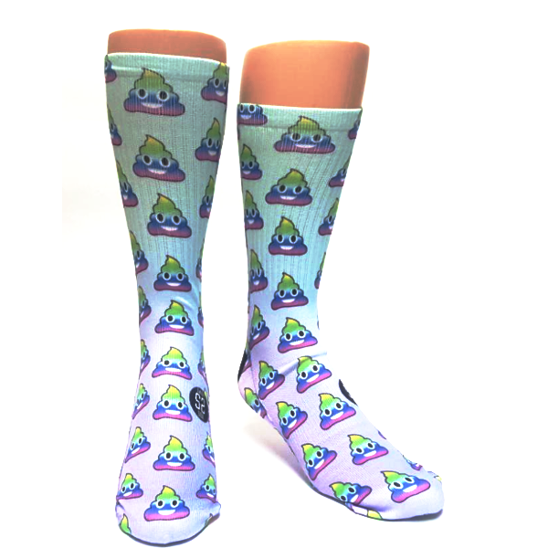 Rainbow Poop Socks