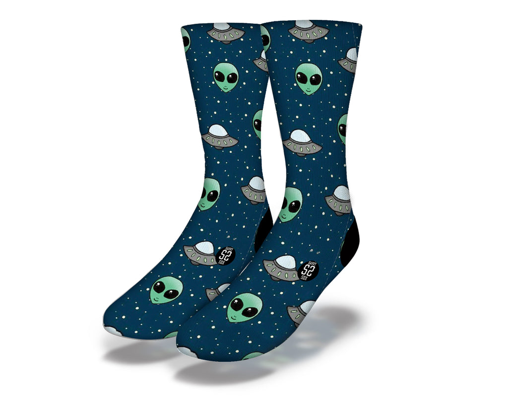 Aliens and Spaceships Socks