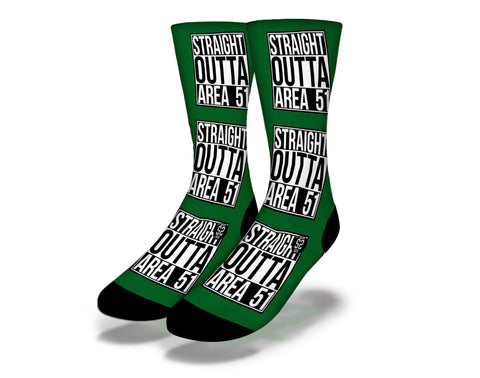 Straight Outta Area 51 Socks