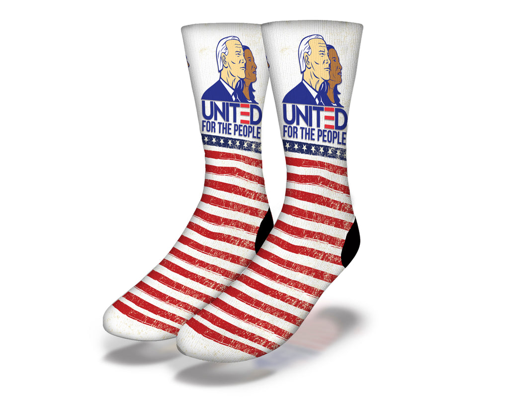 United For The People Joe Biden Kamala Harris Socks