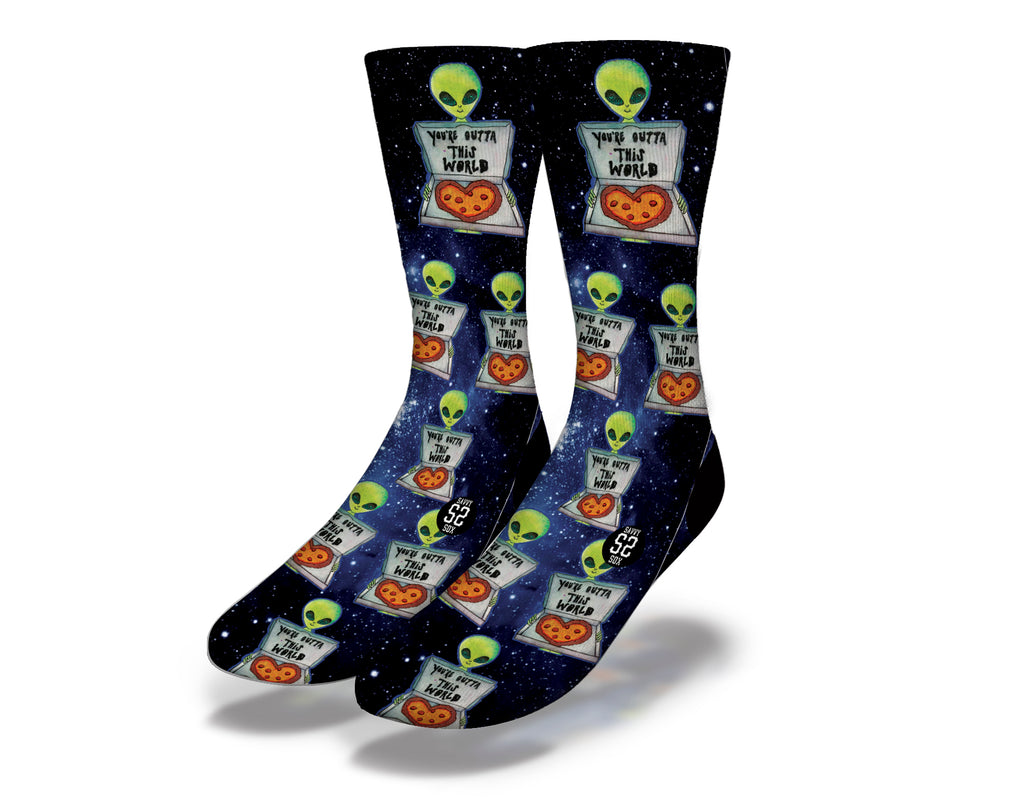You're Outta This World Alien Socks
