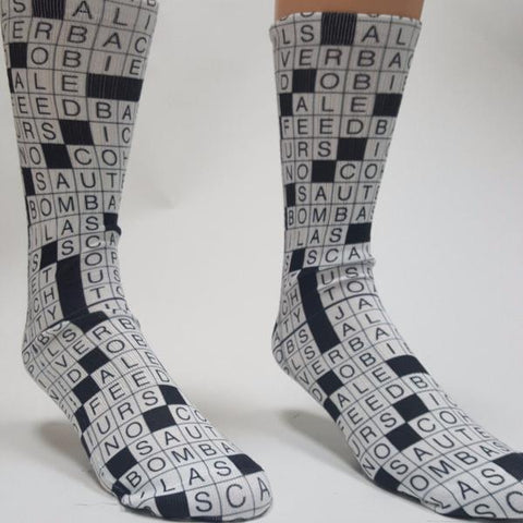 Crossword Game Socks - SavvySox