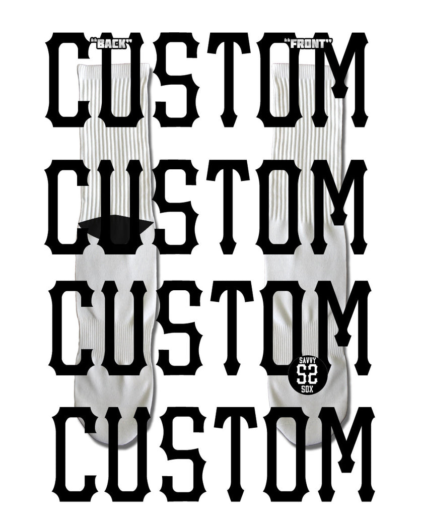 Custom Print Your Own Design - SavvySox - 1