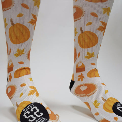 Pumpkin Socks - SavvySox - 1