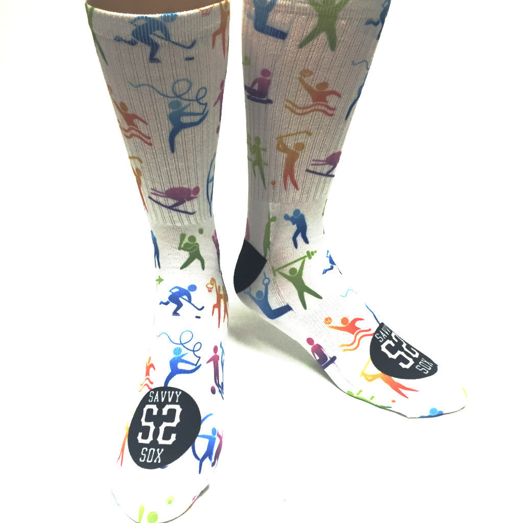 Olympic Sport Icon Socks - SavvySox - 2