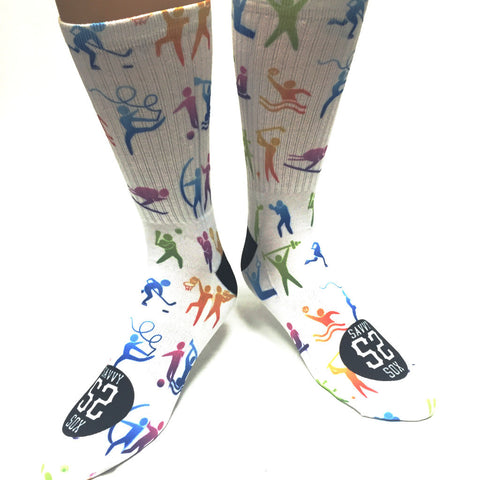 Olympic Sport Icon Socks - SavvySox - 1