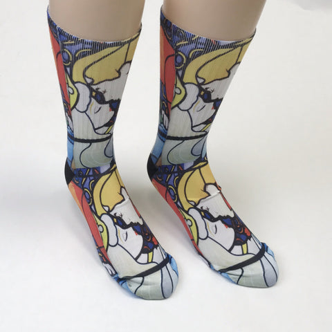 Beauty and the Beast Stain glass Socks - SavvySox - 1
