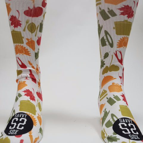 Thanksgiving Seasonal Theme Socks - SavvySox