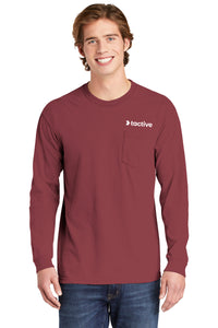 Tactive Heavyweight Ring Spun Long Sleeve Pocket Tee
