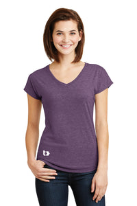 Tactive Ladies Tri-Blend V-Neck Tee