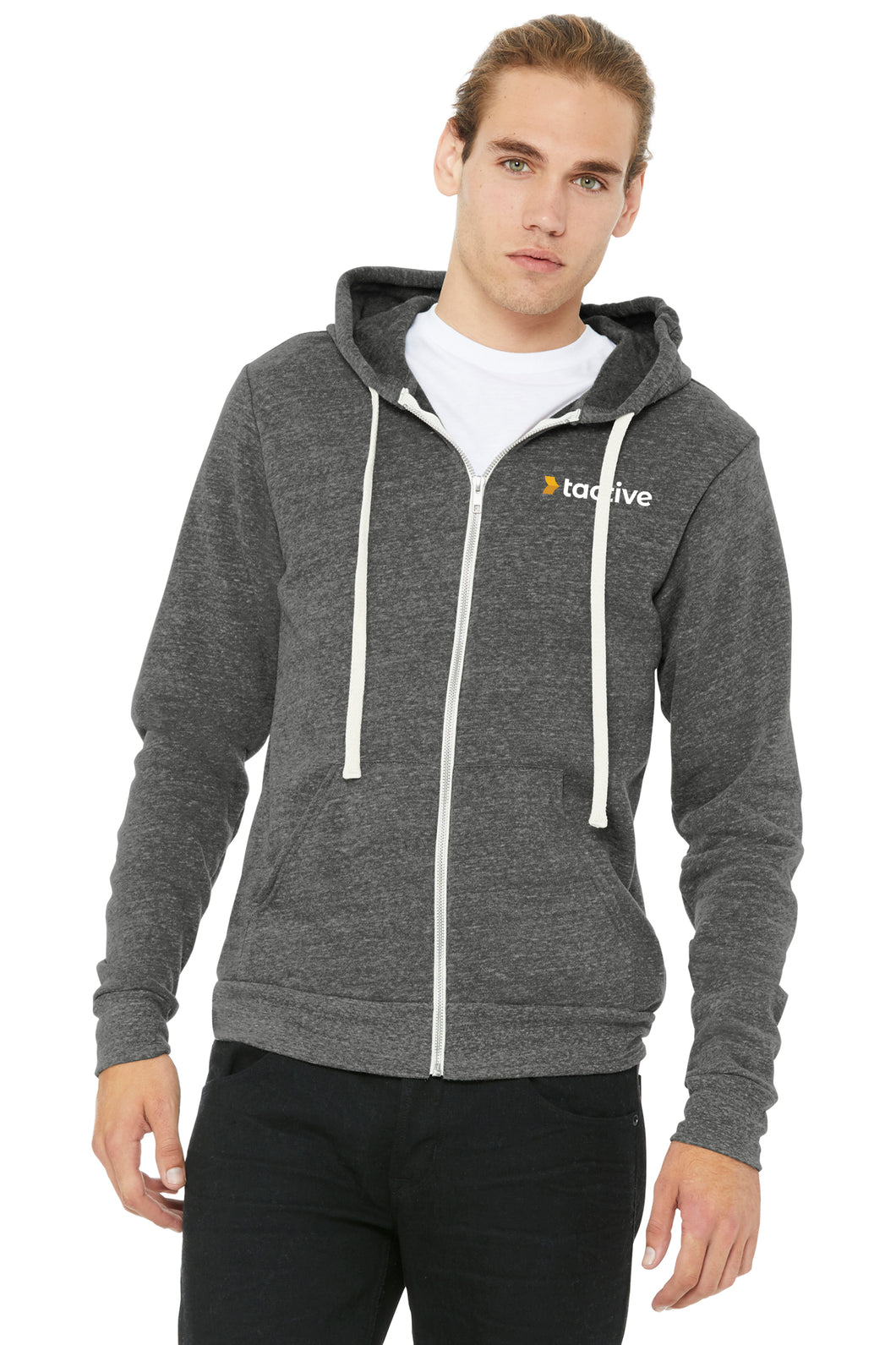 Tactive Triblend Sponge Fleece Full-Zip Hoodie