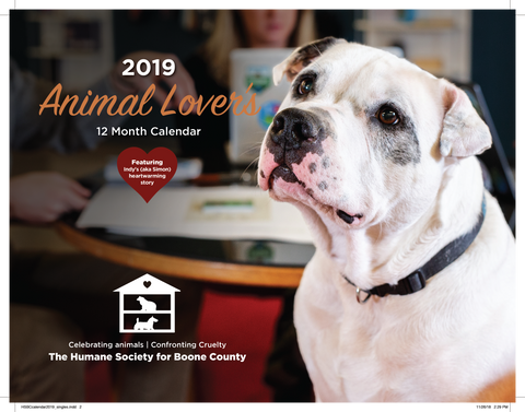 2019 Humane Society for Boone County Calendar