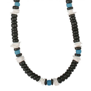 Black Coconut Shells Necklace