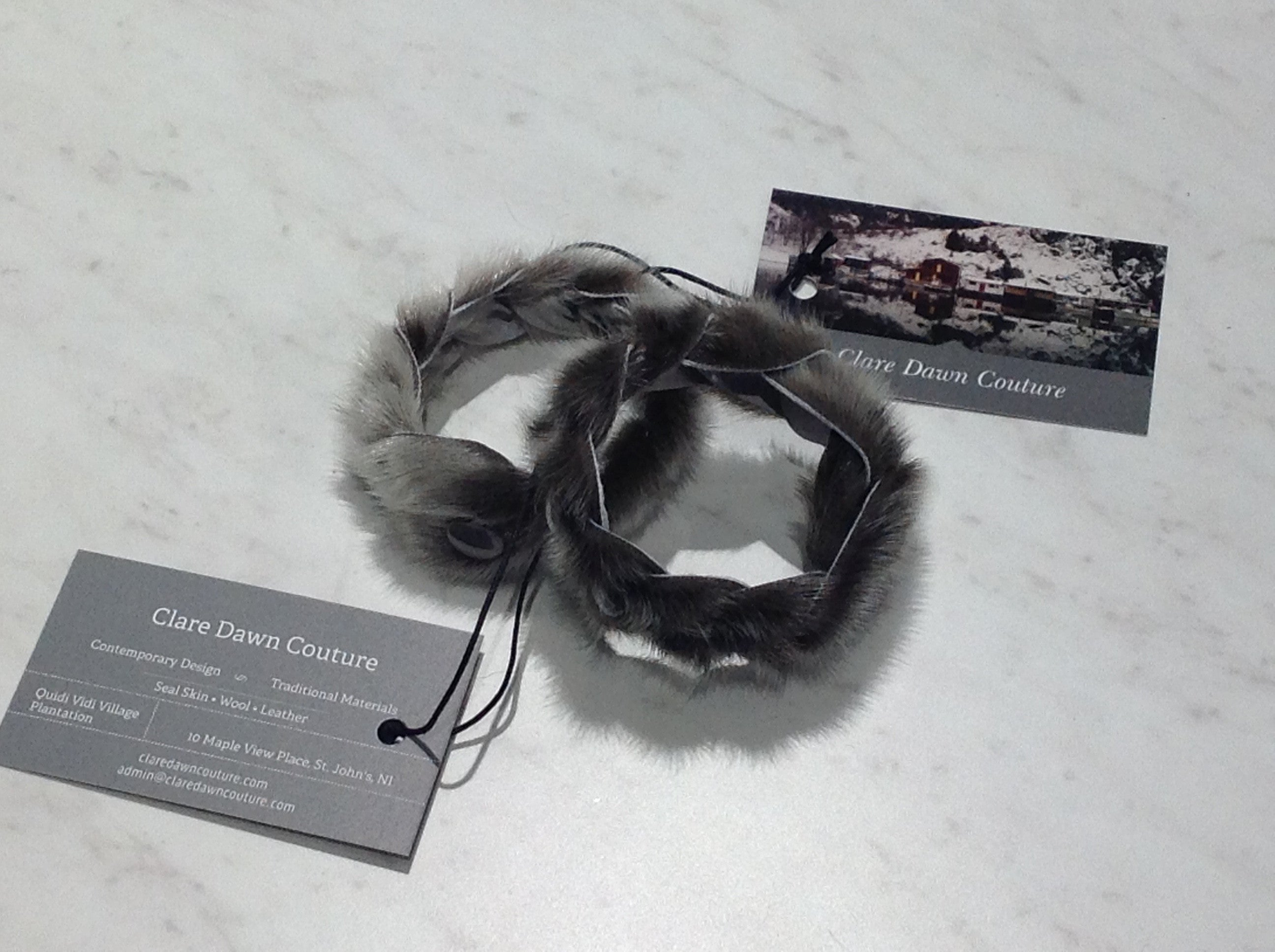Seal Skin Braided Bracelet