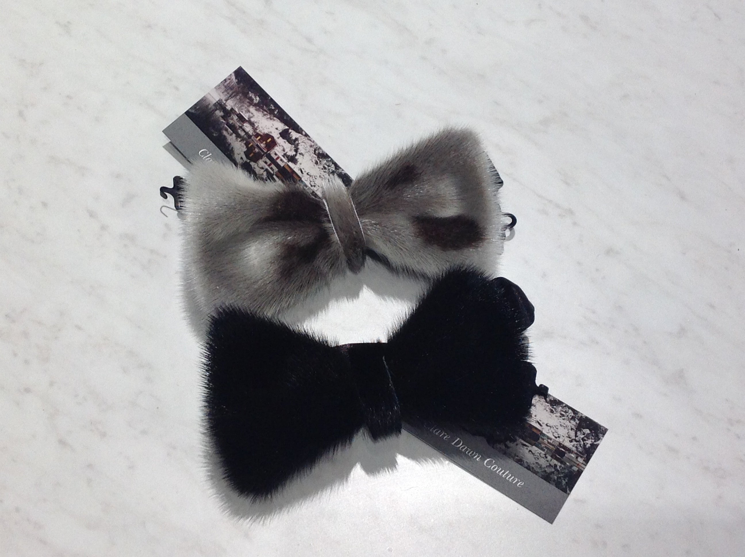 Black Seal Skin Bow Tie