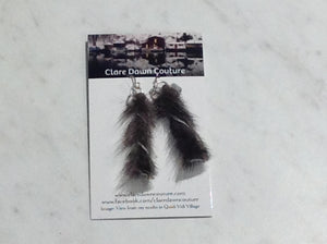 Seal Skin Twist Earrings