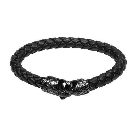 Gun metal bracelet with eagle clasp