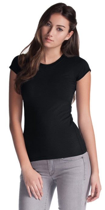 Ladies Bamboo Stretch Crew T
