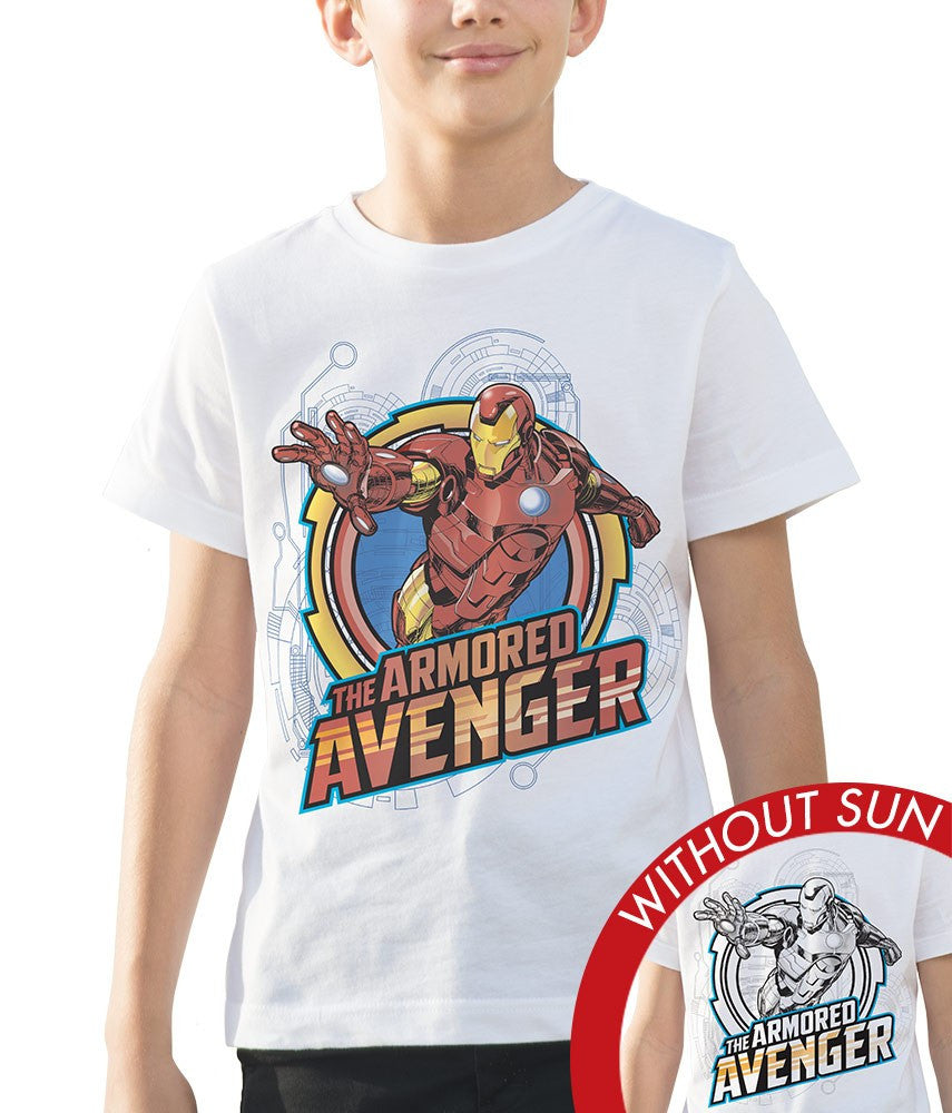 Marvel Kid's Crew Tee - Armoured Avenger