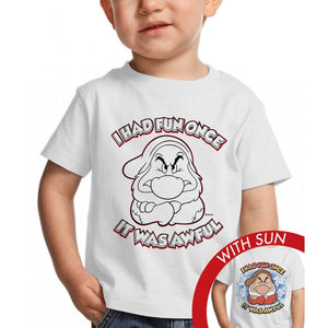 Grumpy Had Fun Once - Kid's T-shirt