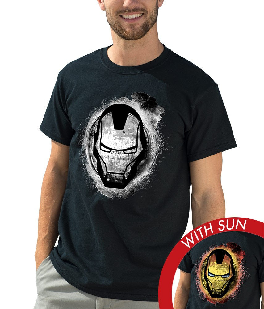Marvel Men's Classic Crew Tee - Iron Man Grunge