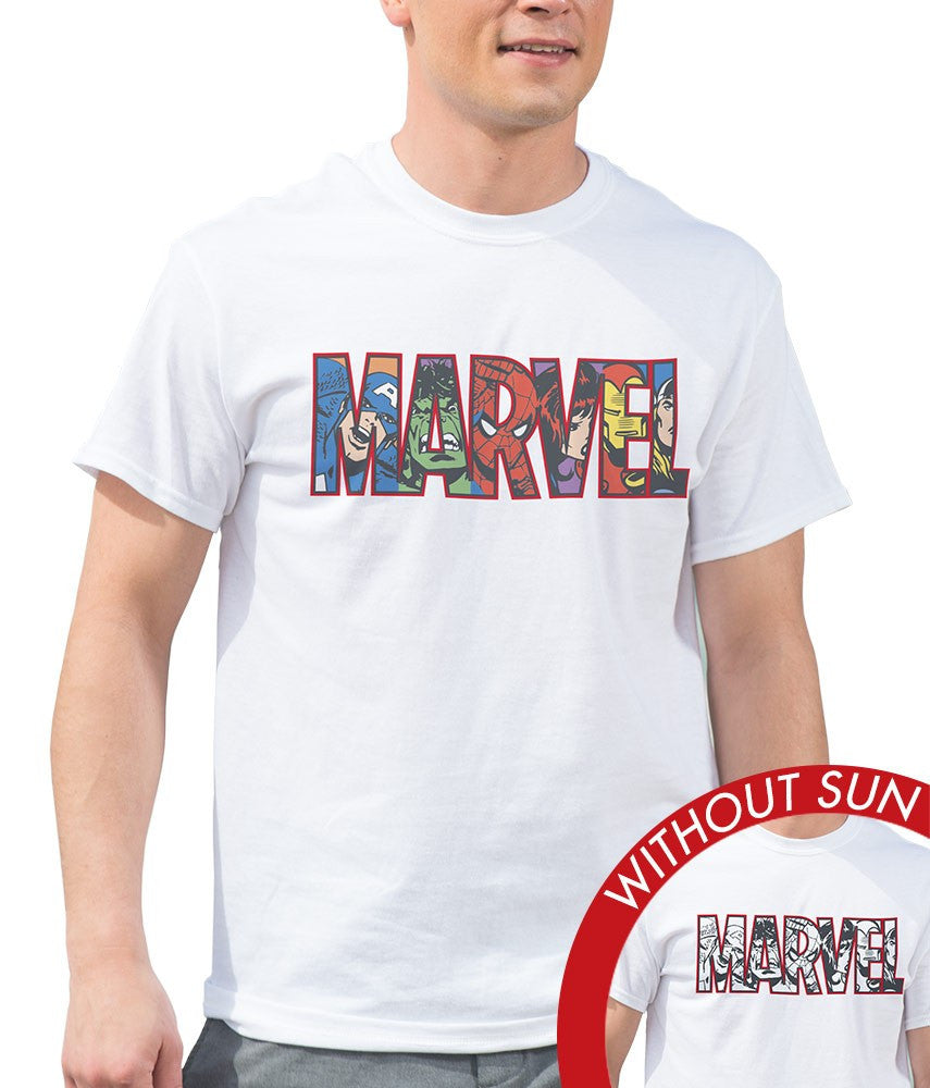 Marvel Men's Classic Crew Tee - Marvel Comics Block