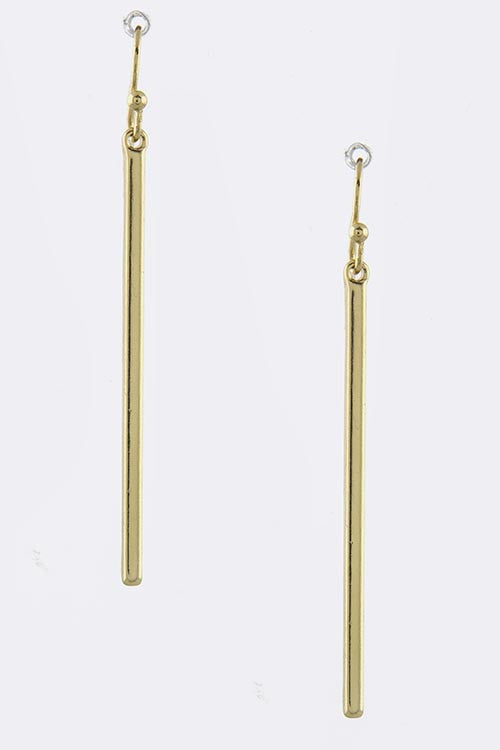 Elegant Drop Bar Earrings