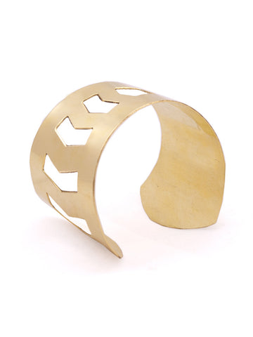 Criss-Cross Gold Cuff