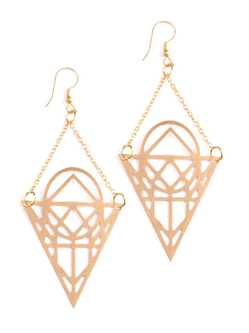 Layered Lotus earrings