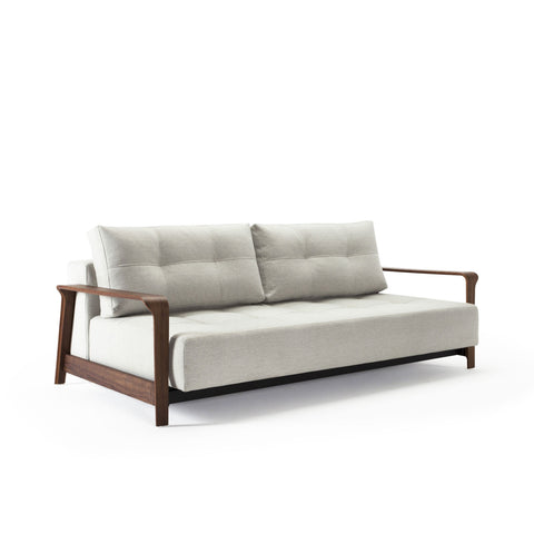 Movie Night Sofa Bed - Wood Arms (Queen)